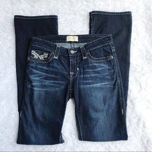 Big Star Maddie Bootcut Jeans Dark Wash Sz 25R